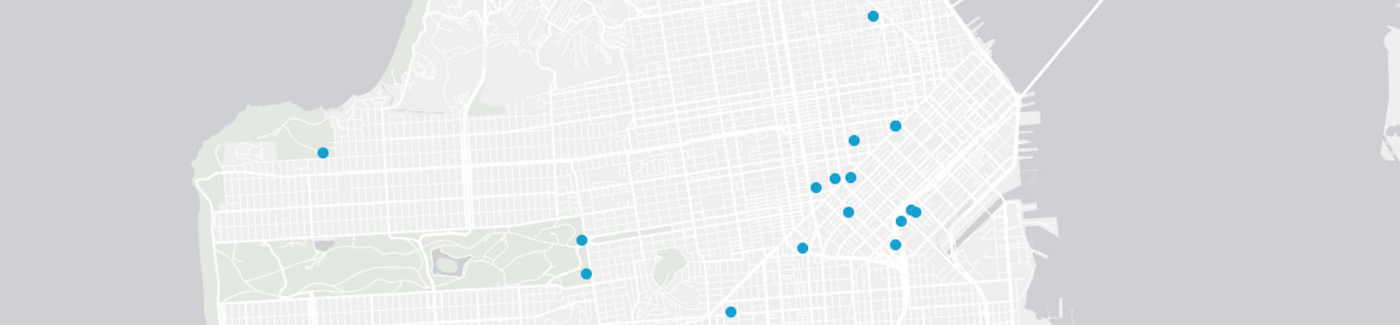 Map of Projects in San Francisco